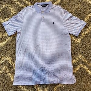 Polo Ralph Lauren Golf Polo Blue/White w/Navy Logo